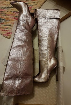 NEU KINDRED Party OVERKNEES STIEFEL BOOTS UK Metallic -(AUSVERKAUFT) Weihnachten Silvester