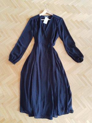 H&M Robe portefeuille bleu foncé