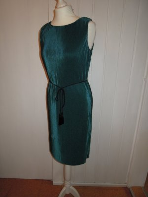 NEU Kleid Cocktailkleid Kaffe - Modell Dita plisse dress Plissee Gr. M 38 grün mit Gürtel
