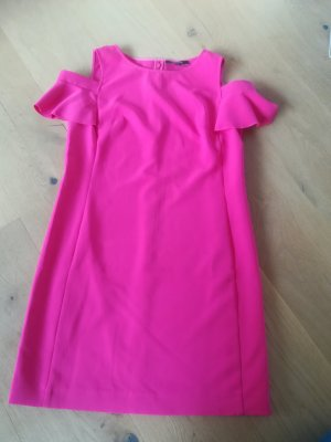 Comma Cut out jurk roze-violet Polyester
