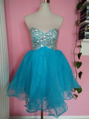 NEU, Kleid für Abi/Ball/Abschluss/Hochzeit in hellblau (B1)