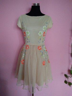 NEU, Kleid für Abi/Ball/Abschluss/Hochzeit in nude/creme (B1)