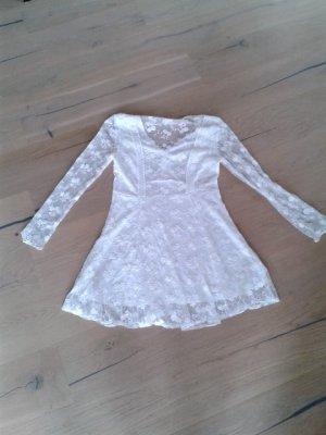 Neu Kleid Glamorous Gr. L 40 Spitze creme nude NP 99€ Hochzeit Fest