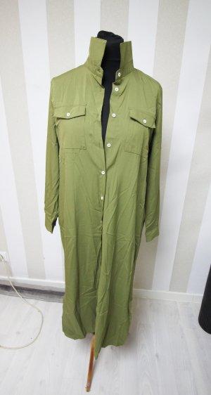 Shirtwaist dress olive green