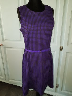 Midi Dress black-dark violet