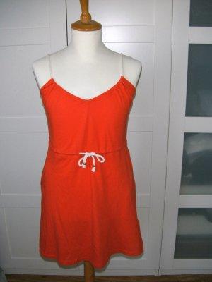 neu, Kleid, Sommerkleid mit Spaghettiträgern, rot, H&M, Gr. S