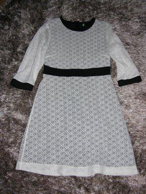 Neu! Kleid von United Colors of Benetton in Weiß/Schwarz Gr. S