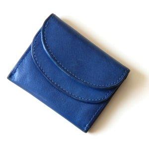 Portemonnee blauw Leer