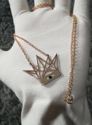 Neu! Kronen Halskette in Roségold