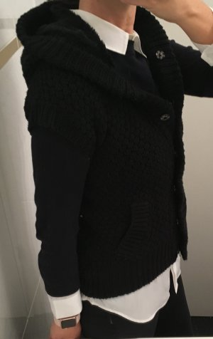 Zara Knit Short Sleeve Knitted Jacket black mixture fibre