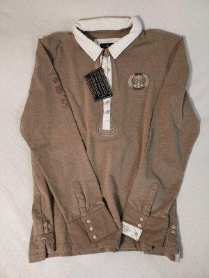 Largentina Camiseta tipo polo marrón claro
