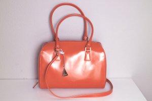 L.credi Carry Bag dark orange-cognac-coloured leather