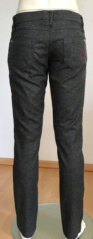 La Martina Five-Pocket Trousers grey mixture fibre