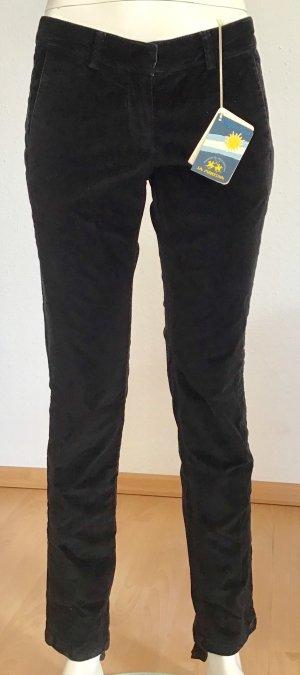La Martina Pantalon fuseau noir coton