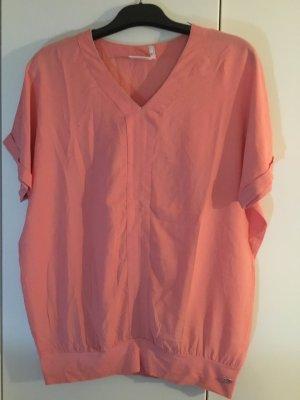 Lisa Tossa V-Neck Shirt nude viscose