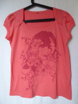 NEU: Lachsfarbenes T-Shirt mit Motiv von Takko