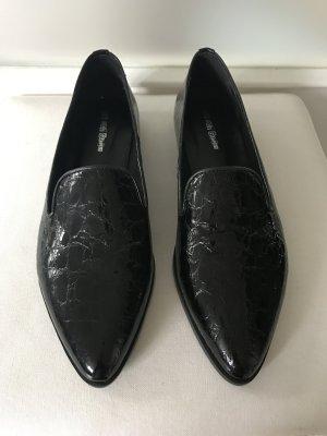 NEU - Lack Ballerinas, eleganter Slipper Echtleder schwarz, ungetragen