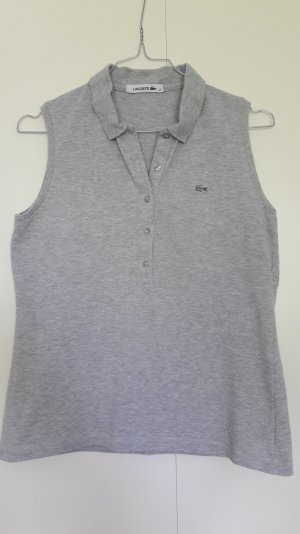 NEU Lacoste Poloshirt ärmellos grau klassich Gr. 36
