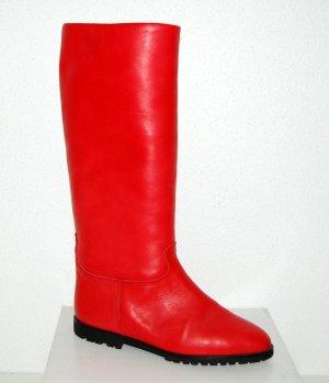 NEU - Lässige Winterstiefel - Lederstiefel in rot von Made in Italy GR.38