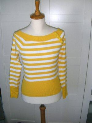neu, Langarmshirt, gestreift, Streifen, gelb, weiß, Only, Gr. S