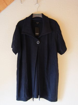 Bexleys Short Sleeve Knitted Jacket dark blue polyacrylic