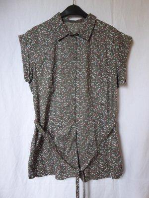 NEU: Lange, bunte Kurzarm-Bluse von Esprit Sports