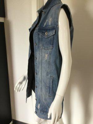Denim Vest azure cotton