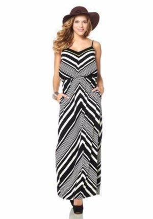 Neu! Langes Kleid von Vince Camuto in Schwarz/Weiß Gr. 34