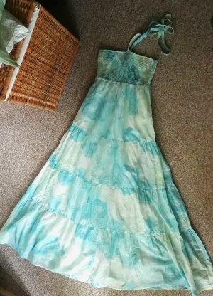 NEU! Langes Maxi Esprit Kleid Gr. 34 XS, Sommer Strand Blau Türkis