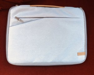 Laptop bag silver-colored-oatmeal
