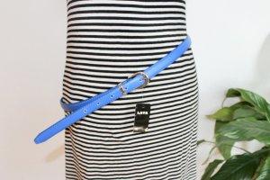 Faux Leather Belt blue imitation leather