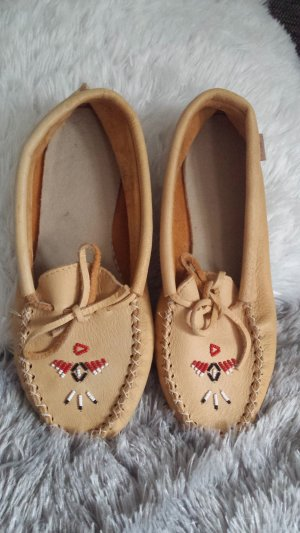 Moccasins camel leather