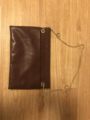 Neu!! Leder Clutch in Bordeaux