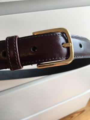 American Apparel Leather Belt bordeaux leather