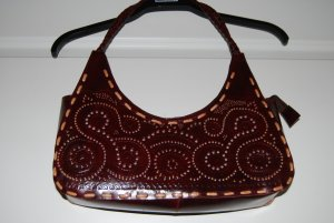 Carry Bag brown red-brown leather