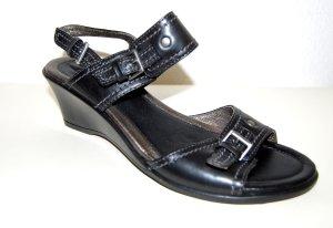 NEU - Leder  Riemchen - Keil Sandale - schwarz von ECCO - Gr. 39