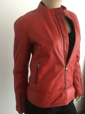 NEU | Lederjacke im Biker Style von Closed in Orange-Rot