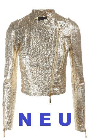 NEU Lederjacke Just Cavalli Gold Gr.40 LP 889 €uro Leder