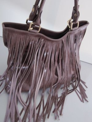 Fringed Bag brown leather