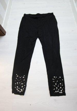NEU Leggings Hose mit Perlen Details