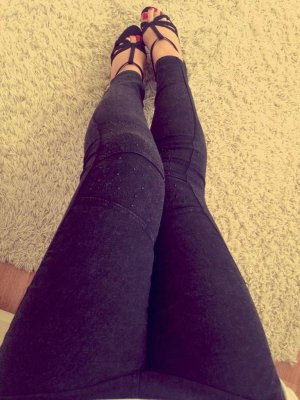 NEU Leggings Jeans-Look verwaschene Optik