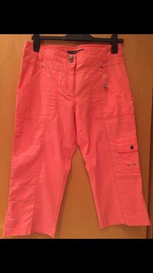 HS Fashion Pantalón pirata rojo claro-salmón