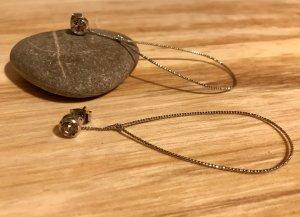 NEU Leichte Ohrringe 925er Silber mit Stein