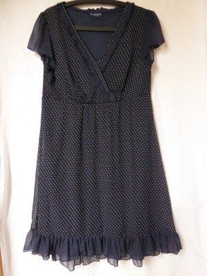NEU: Leichtes, dunkelblaues Sommer-Kleid mit weißen Punkten von Biaggini (Charles Vögele)