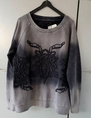 NEU Liebeskind Sweatshirt Sweater Pullover abstraktes Muster grey S/36 NP.129€