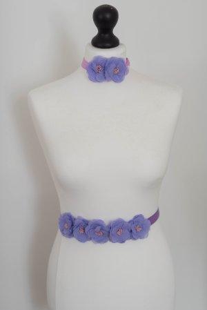 Cinturón de tela lila-lila