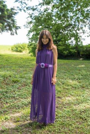 Robe chiffon violet