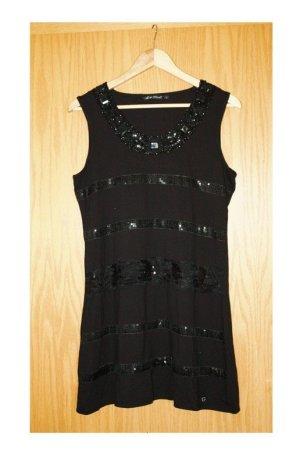 Neu Lisa Tossa festliches Kleid Größe 42 schwarz mit Steinchen besetzt wunderschön