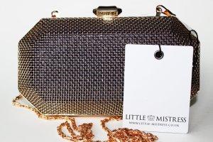 NEU LITTLE MISTRESS – GOLDENE CLUTCH Handtasche gold metallic