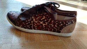 Neu! London Sole coole braune Schuhe animal print Gr 41